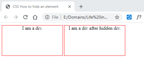 CSS How to hide an element 1