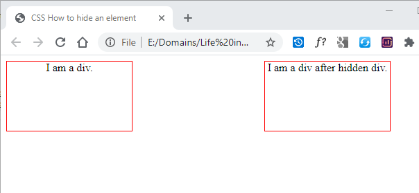 CSS How to hide an element 2