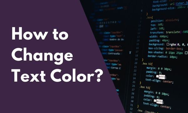 CSS How to change text color