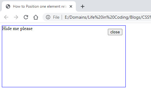 Position one element relative to another in CSS