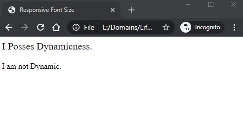 CSS Font Size Responsive 1