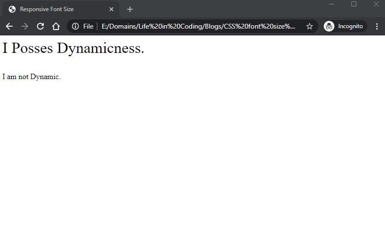 CSS Font Size Responsive 2