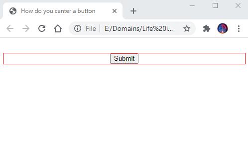 center a button