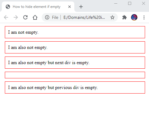 How to hide element if empty 1