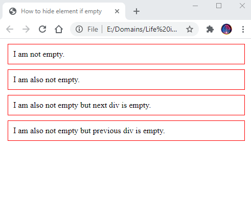 How to hide element if empty 2