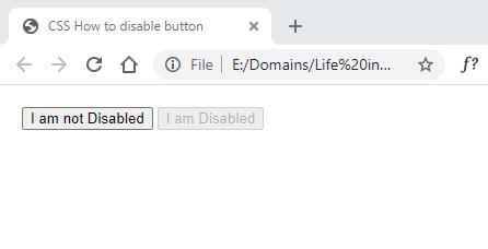 disable button