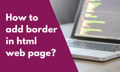 How to add border in html