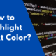 CSS How to highlight text
