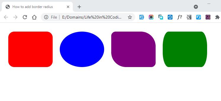 How to add border radius
