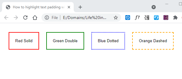How to add border to button