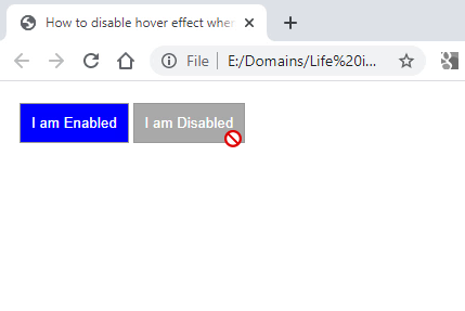 disable hover effect
